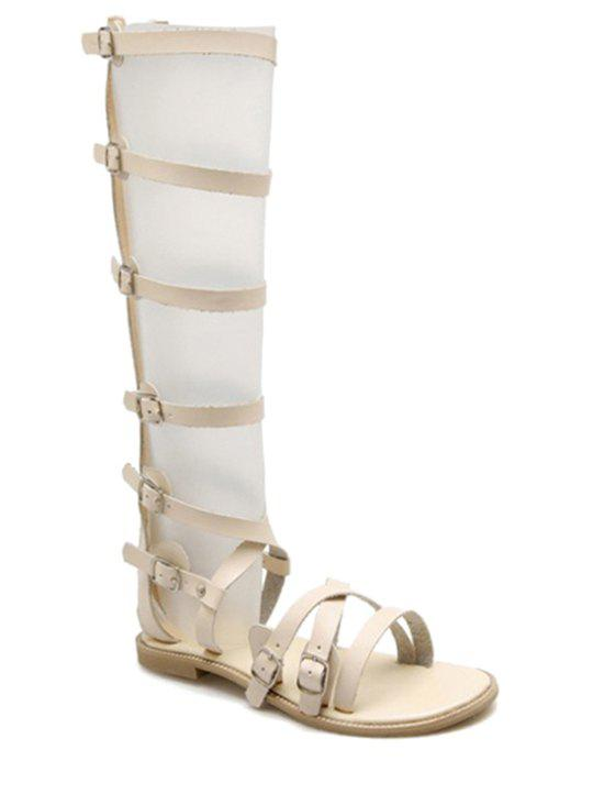Affordable Trendy Buckles and High Top Design Sandals For Women