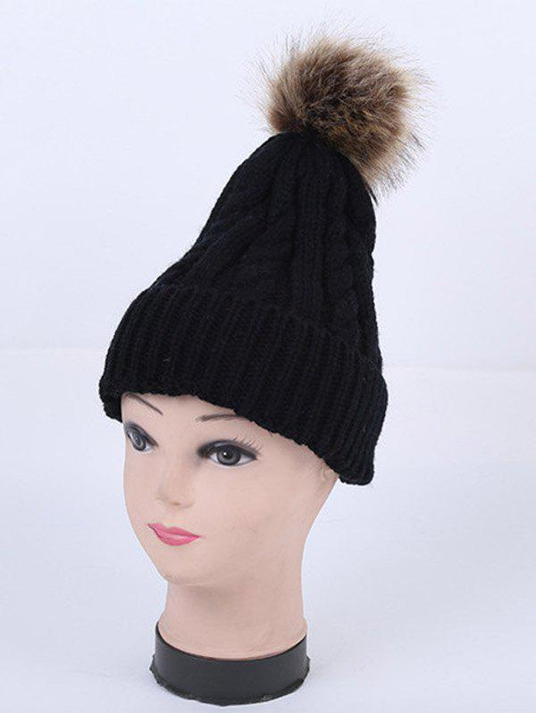 Store Winter Stripy Cable Knit Pom Hat