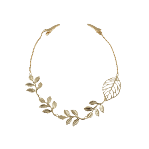 Tree Leaf Embellished Hair Accessory - GOLDEN