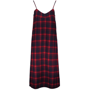 Tartan Slip Midi Dress - PLAID S
