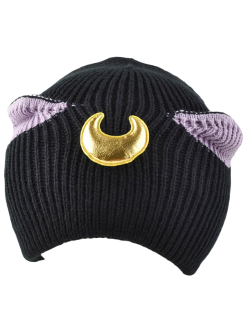 Cheap Casual Moon Patched Knit Cat Ear Hat