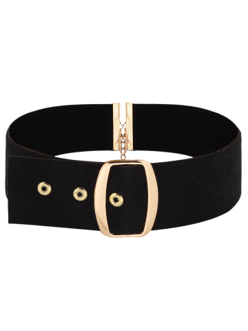 Affordable Faux Leather Velvet Choker Necklace