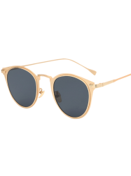 Cool Metal Cat Eye Sunglasses - GOLDEN