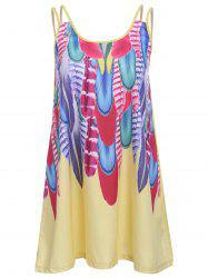 Cami Feather Print Dress