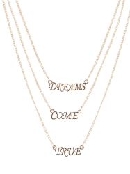 Three Layers Letter Pendant Necklace -