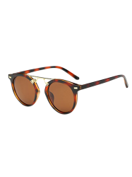 Vintage Dam Nose Bridge Hawksbill Oval Sunglasses -