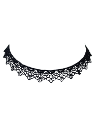 Concise Lace Floral Openwork Choker -
