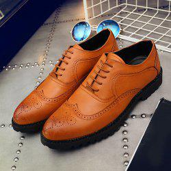 Faux Leather Wingtip Formal Shoes