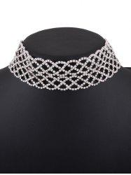 Rhinestoned Hollow Out Choker Necklace