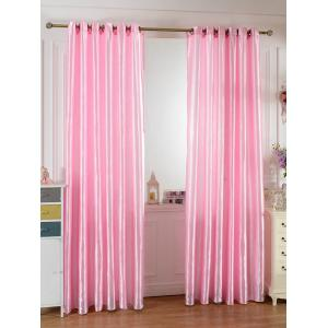 Home Decor Grommets Ring Top Blackout Curtain - Peach Pink - 100*250cm