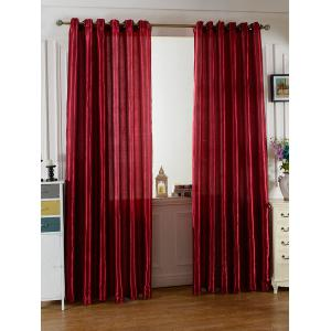 Home Decor Grommets Ring Top Blackout Curtain - Wine Red - 100*250cm