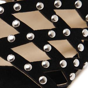 Zipper Studded Sandals -