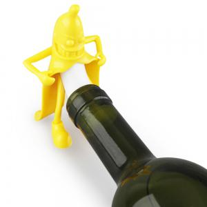 Cartoon Mr. Banana Red Wine Silicone Bottle Stopper -