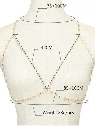 Affordable Alloy Hollow Out Bra Beach Body Jewelry - GOLDEN  Mobile
