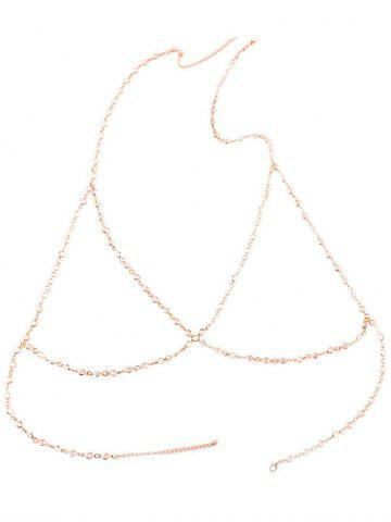 Discount Alloy Hollow Out Bra Beach Body Jewelry - GOLDEN  Mobile