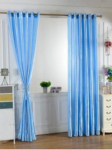 Buy Home Decor Grommets Ring Top Blackout Curtain - 100*200CM BRIGHT BLUE Mobile