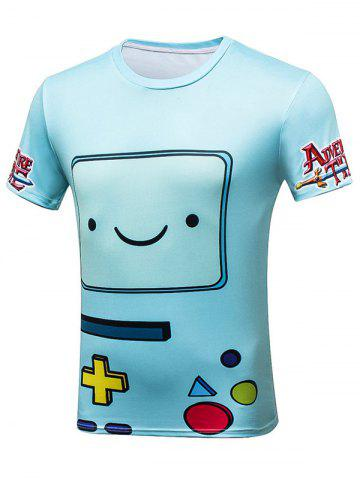 Sale Cartoon Game Over Graphic Tee - XL BLUE Mobile