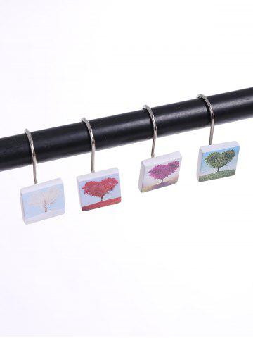 Online 12PCS Mixture Resin Curtain Hooks Rings COLORMIX