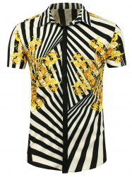 Buttoned Printed Short Sleeve Shirt