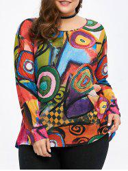 Cool Plus Size Graphic Long Sleeve T-Shirt