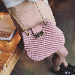 Eyelet Detail Chains Bucket Bag