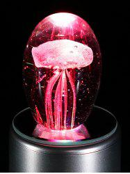 Creative Glass Ball Rotatable Light Shine Jellyfish Music Box