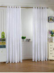 Home Decor Grommets Ring Top Window Curtain - Blanc Crème