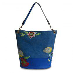 Flower Embroidered Shoulder Bag