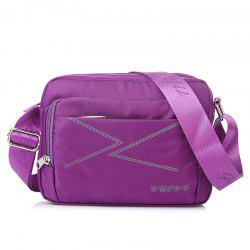 Multi Zips Nylon Cross Body Bag