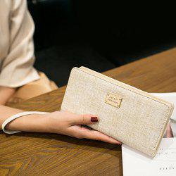 Zip Around Wristlet Wallet - BEIGE
