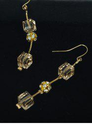 Rhinestone Ball Cube Drop Earrings