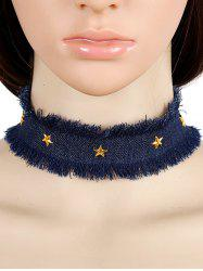 Vintage Star Denim Choker Necklace