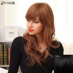 Siv Hair Long Side Bang Natural Curly Human Hair Wig