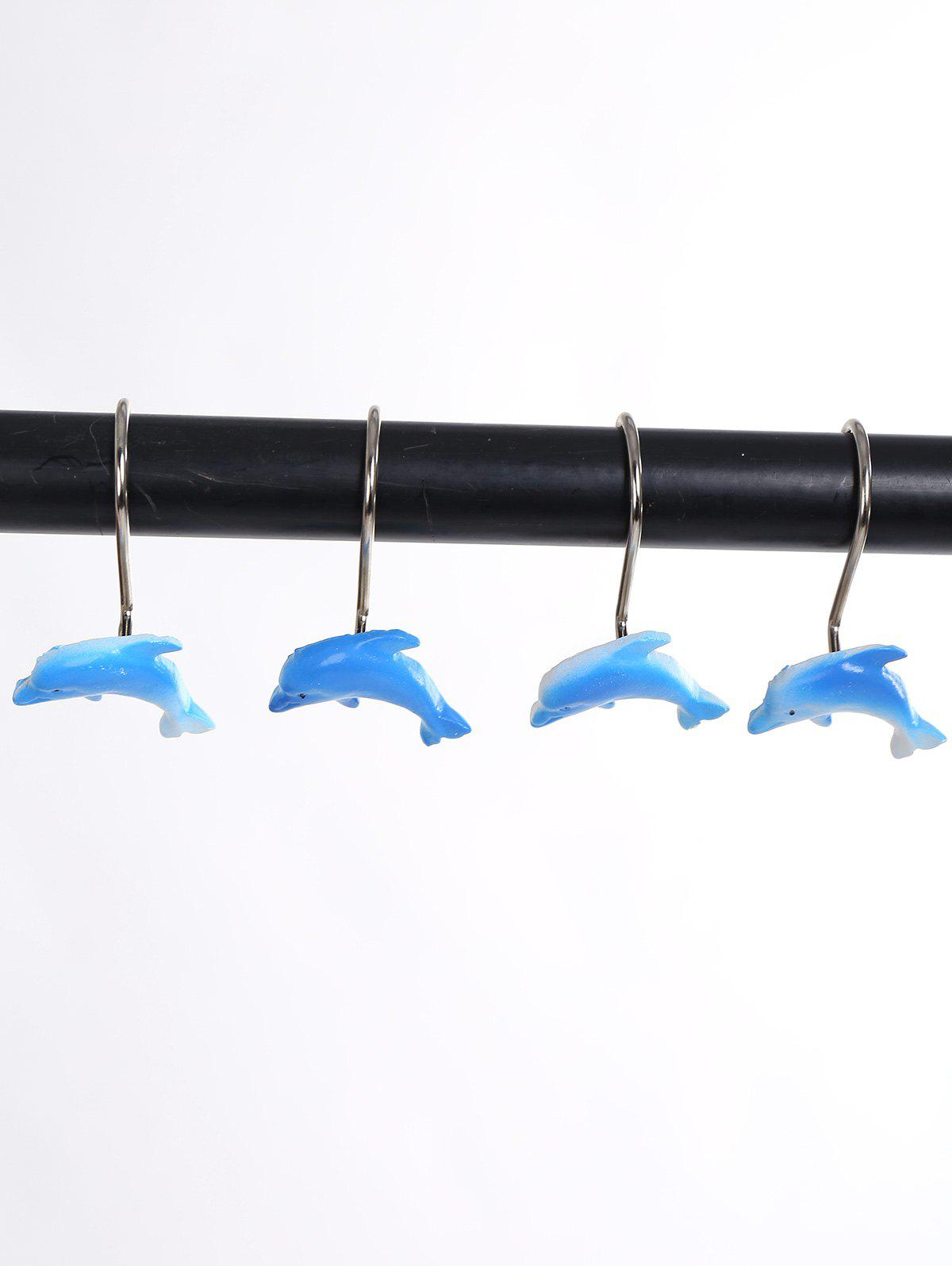 Affordable Bath Accessories 12Pcs Dolphin Shower Curtain Hooks