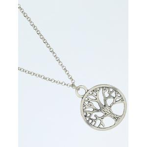 Vintage Life Tree Pendant Necklace - SILVER