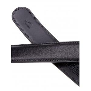 Rectangle Metal Auto Buckle Leather Formal Belt -