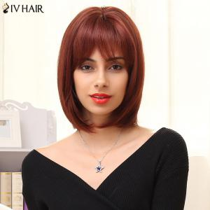 Siv Hair Short Neat Bang Bob Human Hair Wig