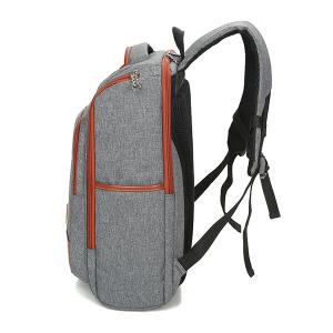 Multi-Zips Mesh Panel Backpack - Gris Clair