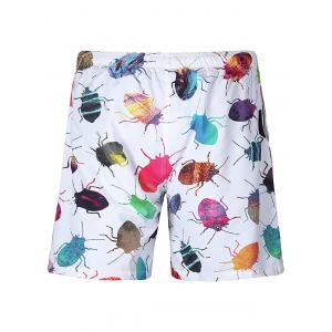 Insect Patterned Drawstring Shorts