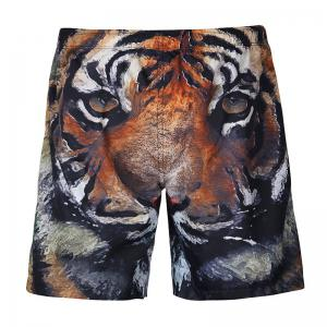 3D Animal Print Shorts with Mesh Lining