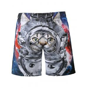 Cat 3D Print Casual Shorts