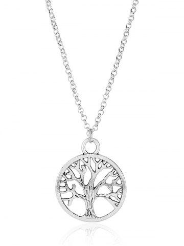 New Vintage Life Tree Pendant Necklace SILVER