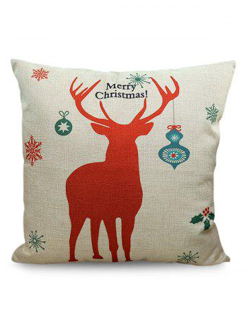 Outfit Merry Christmas Deer Printed Sofa Decorative Pillow Case BEIGE
