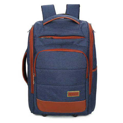 Best Multi Zips Mesh Panel Backpack - BLUE  Mobile