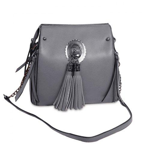 Shops Multi Zips Tassel Crossbody Bag