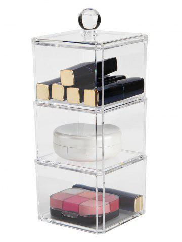 Maquillage de bureau détachables Maquillage de stockage Organizer Transparent