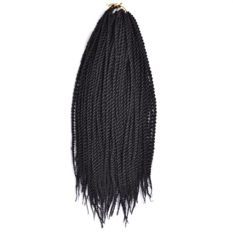 Shop Long Senegal Twists Synthetic Hair Extension - 18INCH BLACK Mobile