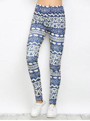 High Waist Pattern Running Leggings