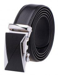 Carve Up Metal Auto Buckle Leather Belt