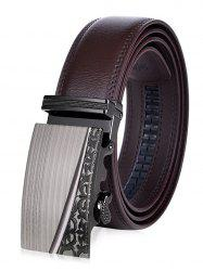 Retro Carve Auto Buckle Leather Belt - BROWN